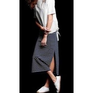 Striped Maxi Skirt with Side Slits